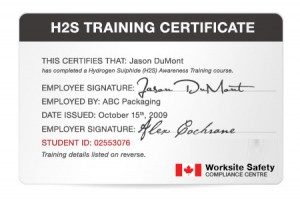 H2S Training Online